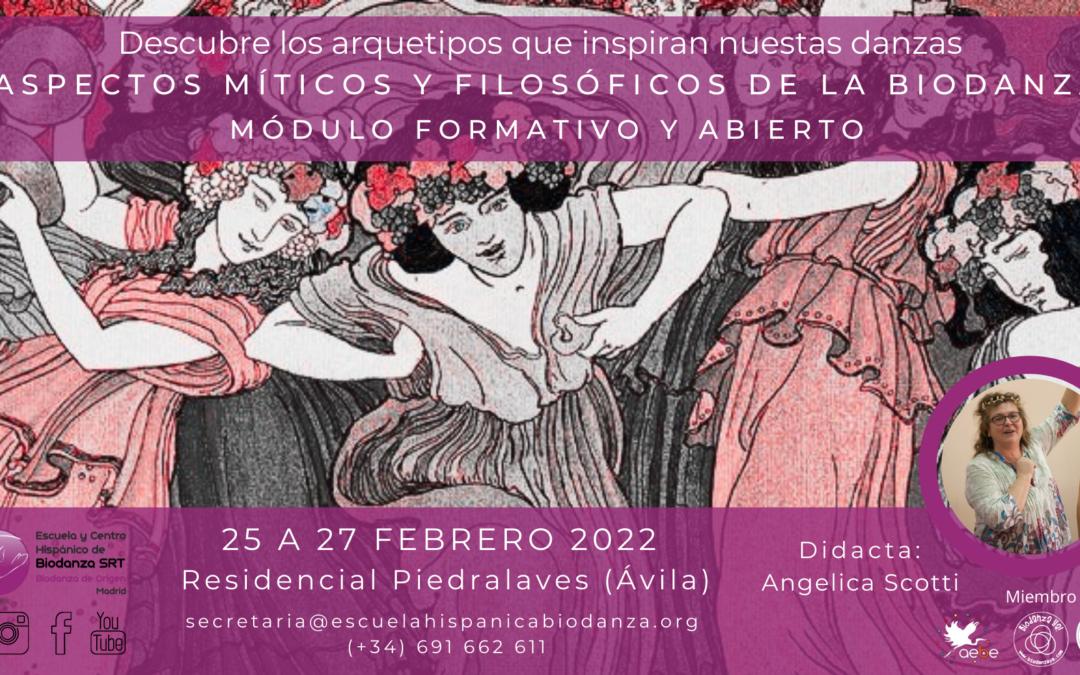 """Módulo formativo y Abierto: """"Antecedentes Míticos y Filosóficos"""". Con Angélica Scotti"""