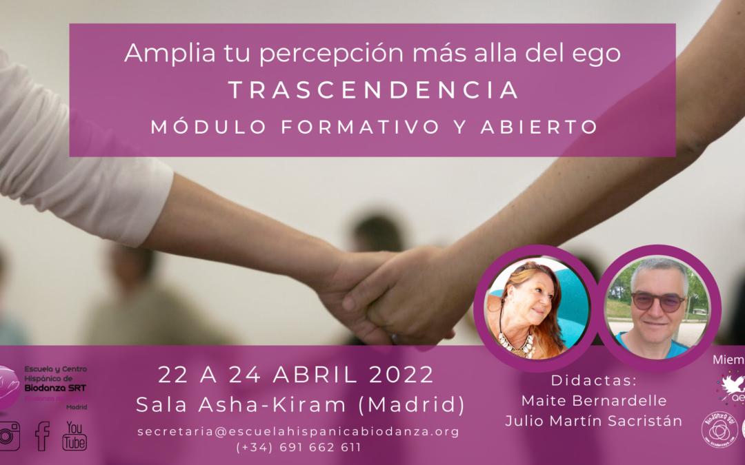 """Módulo formativo y Abierto: """"Trascendencia"""" con Maite Bernardelle y Julio Martín Sacristán"""