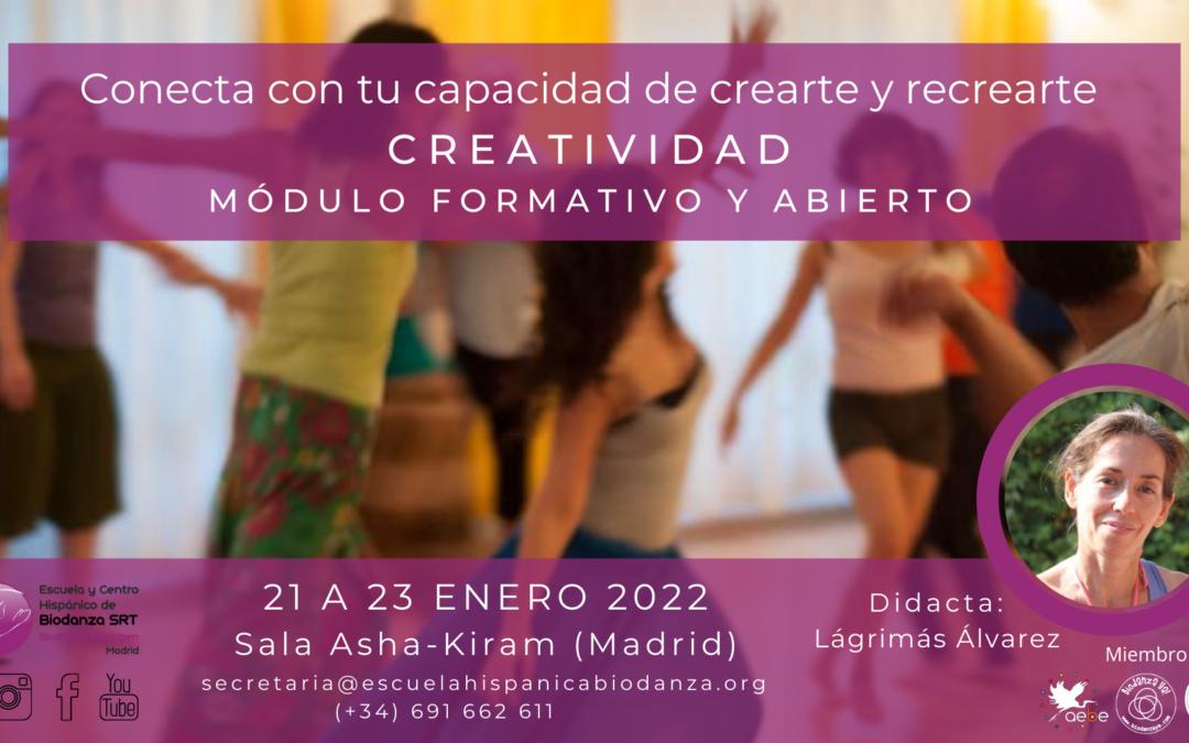 """Módulo formativo y Abierto: """"Creatividad"""" con Lágrimas Álvarez"""