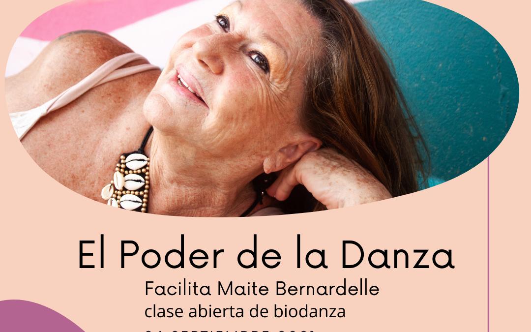 """Clase abierta """"El Poder de la Danza"""" con Maite Bernardelle"""
